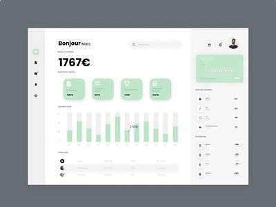 Banking Dashboard app web ux ui design
