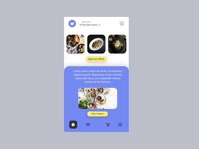 Food Delivery App app web ux ui design