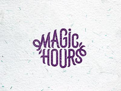 Magic hours type letters logotype logo hours magic