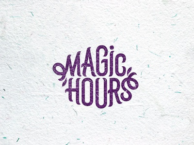 Magic hours type letters logotype logo hours magic