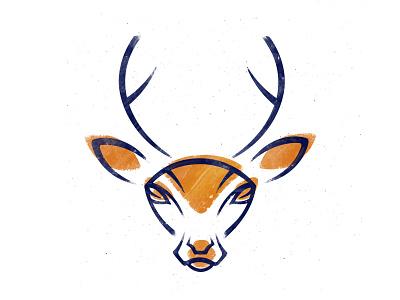 Deer texture stylization deer noise logo illustration brush animal