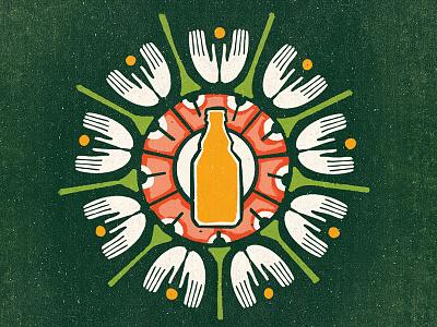 Shumensko Folk vector texture shumensko retro noise illustration bottle bomb beer ethno folk
