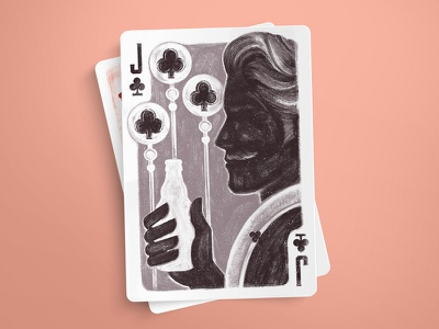 Jack of Clubs texture jack clubs retro cards playing illustration game deck card brush