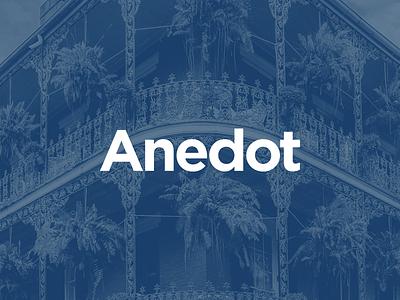 Anedot logotype brand identity logo branding logotype