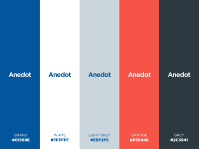 Anedot primary color pallet brand guidelines brand identity branding and identity color pallete branding