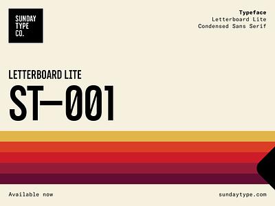 Letterboard — Condensed Sans Serif Font sans serif sanserif fonts branding typeface design font typeface