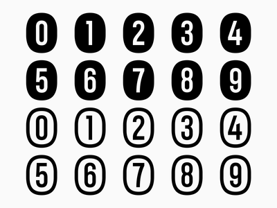 Letterboard Lite specimen — Circled Numbers sans-serif sansserif sans numbers typeface design typeface font design freebies freebie font robofont glyphsapp glyphs fontself fonts