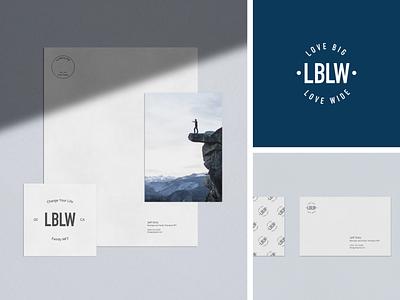 LBLW branding and stationary type-based logo typography logo typography branding studio branding agency brand logotype logo branding