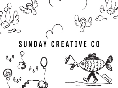 Sunday Creative Co. identity design branding sketching illustration logo logotype