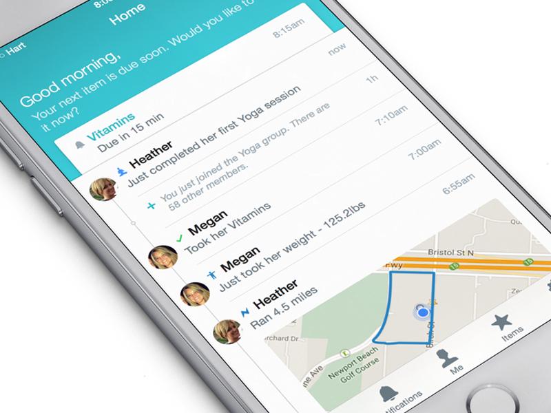 Hart - Activity stream ios iphone ipod app-design mobile-design