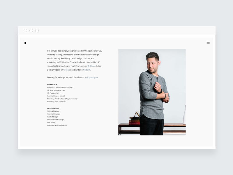 davidsilva.co - Responsive web design css3 html5 front-end wordpress web design