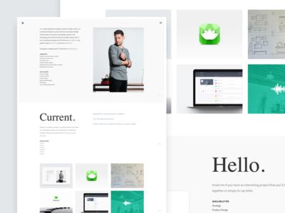 davidsilva.co - Personal website web view