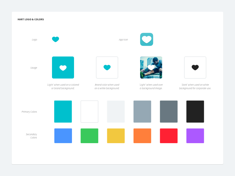 Hart logo usage and colors type typography web design logo guidelines branding