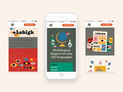 Lehigh - Mobile first web design