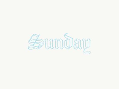 Sunday brand identify in progress