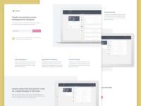 Session - SAAS single-page website