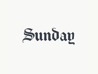 Sunday logo sketch branding logo sketch identity design logo