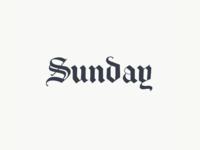 Sunday logo sketch