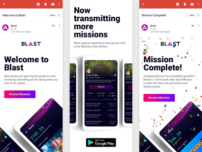 Blast Product Emails email marketing uiux material design android ui design product design