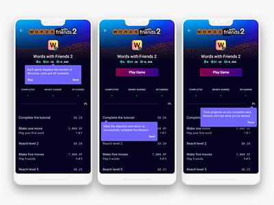 Game Screen Tutorial da onboarding tutorial interface design uiux finance app finance fintech app fintech gaming app gaming material design google dark ui darkui