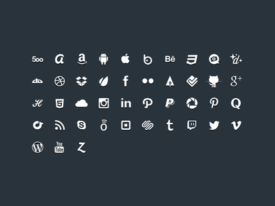 Sunday Glyphs - Social Icons