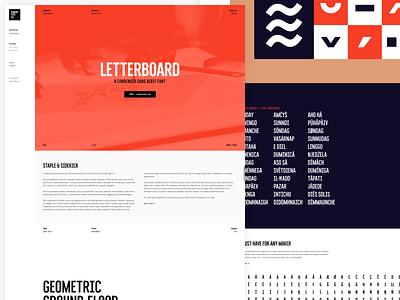 Letterboard — Condensed Sans Serif Font web design website branding illustration lettering typeface fonts