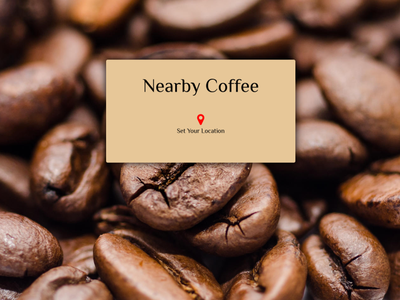 Nearby Coffee web design web coffee app ux ui