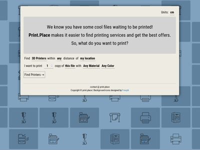 Print Place natural language design website application uidesign ux ui natural language nlp print printing web design web app