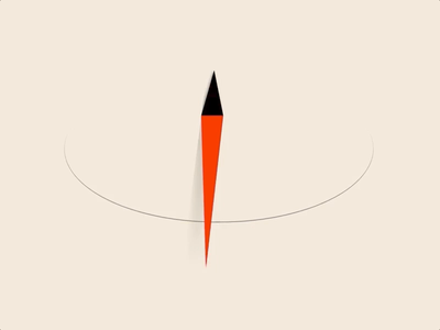 Compass Guide svg logo svg guide perspective minimalist compass illustration logo css animation 2d animated logo animated animation