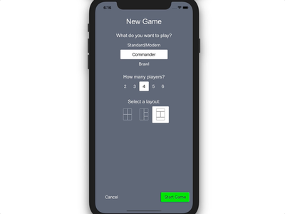 Magic Counters mobile app design mobile layout counters cards players companion app mobile ux ux mobile ui ui magic magic the gathering board game mobile app app