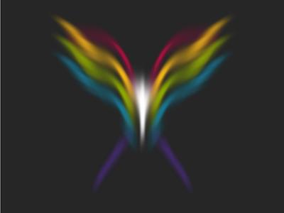 Random Butterflies art nullshape procedural algorithmic generative art bug butterfly