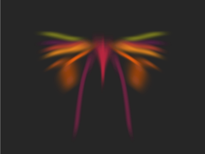 Random Butterflies bug butterfly computer art parametric procedural random nullshape art algorithmic generative art