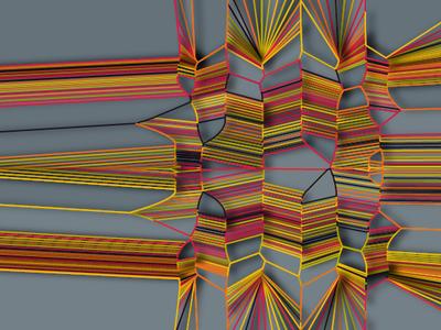 Randm Lines glitch procedural nullshape art algorithmic generative art computer art random generative parametric