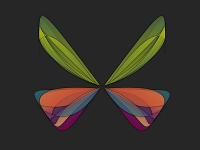 Random Butterflies nullshape bug generative art computer art butterfly random generative art parametric algorithmic