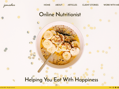 Daily UI Day 3 Landing Page designer concept website website design nutritionist uidesign userinterface landingpage ui design figma day3 dailyuichallenge dailyui