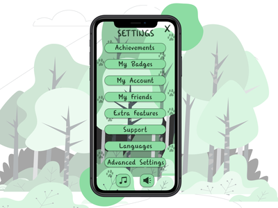 Settings UI Daily UI Challange Day 7 gamesettings game day7 application illustration userinterface uidesign app ui figma design dailyuichallenge dailyui