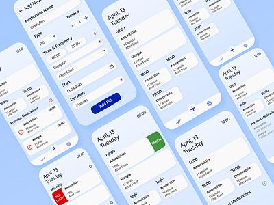 Medication Tracking track tracking app medication tracking medications pill tracking pills medical app medical medication userinterface app uidesign ui