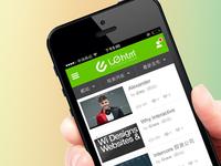 UEhtml Mobile phone website