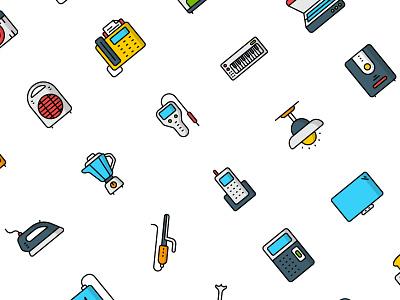 Electronics icons illustration flat vector icon set icons design iconset icon