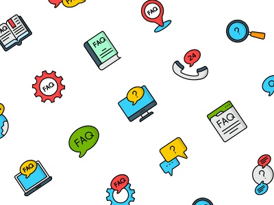 Frequently Asked Questions FAQ icons illustration flat vector icon set icons design iconset icon