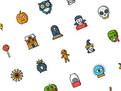 Halloween icons illustration flat vector icon set icons design iconset icon