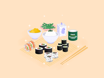Sushi - Still Here Still Life travel branding instagram challenge design visual illustration soy foodie japan rice seafood fish cuisine japanese sushi still here still life still-life