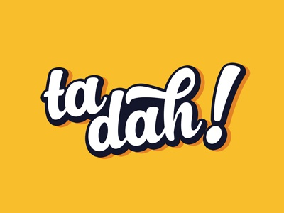Ta Dah! Creative Design Studio Logo  typography vector logo