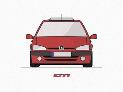 Peugeot 106 GTi hot hatch racing french cherry red car 1.6 16v gti 106 peugeot
