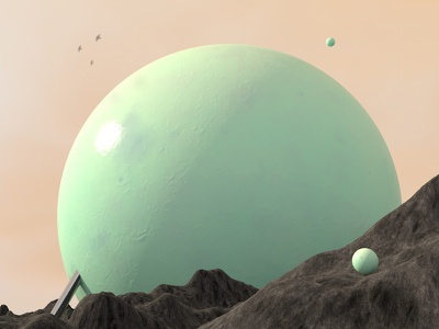 Something Old cinema 4d 3d sphere design pastel mountains render sci fi abstract planet