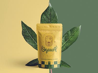 Brand Identity - Ogawa Alimentos mark logotype mandioca plant manioc tapioca brand identity branding brand logo design gluten free food natural food health health congelados alimentos frozen food