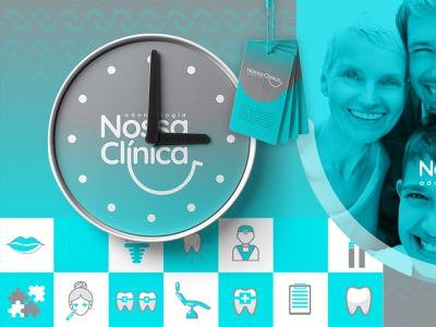Branding - Nossa Clínica logodesign logo brand clinica clinical smiley face odontology dentists dental clinic dental dental care dentist logo dentist tooth smile logo smile