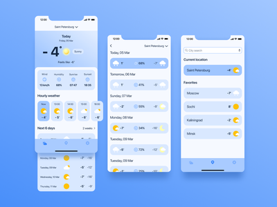 Weather app simple application weather app design app ux ui design