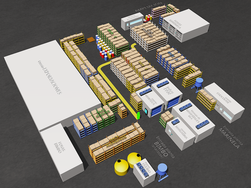 Bimbo Warehouse interactive map project by Guillermo Urias
