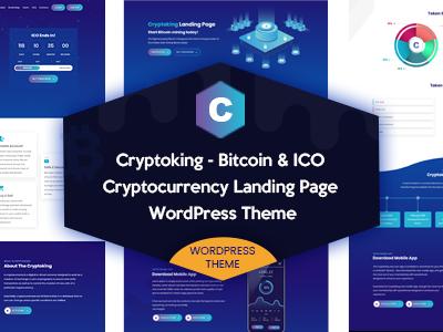 Cryptoking - Bitcoin & ICO Landing Page WordPress Theme